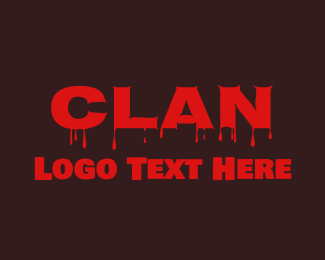 Clan - Red Blood Clan logo design