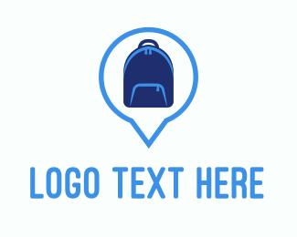 Trip - Blue Backpack logo design