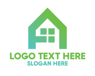 Initial - Green A House logo design