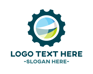 Cog - Eco Gear logo design