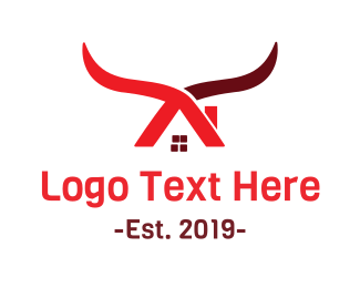 Rodeo - Cow House logo design