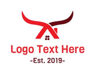 Western - Cow House logo design