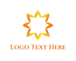 Sunflower - Yellow Sunflower  logo design