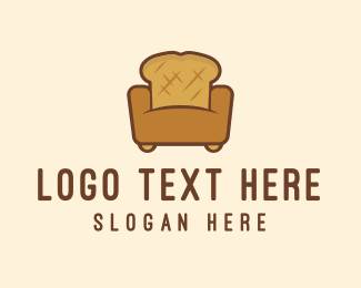 Loaf - Bread Sofa logo design