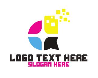 Printer - Ink Cartridge logo design