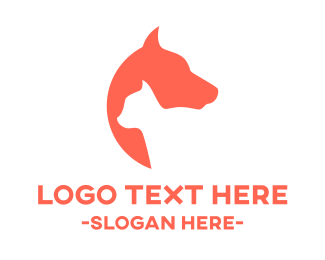 Feline - Cat & Dog logo design