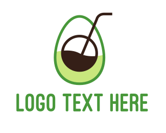 Juice Shop - Avocado Juice logo design