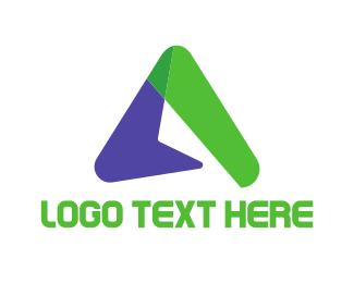 Business Software - Boomerang Letter A logo design