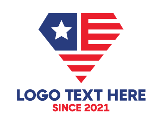 Pendant - USA Diamond  logo design