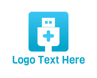 Hospital - Tech Hospital logo design