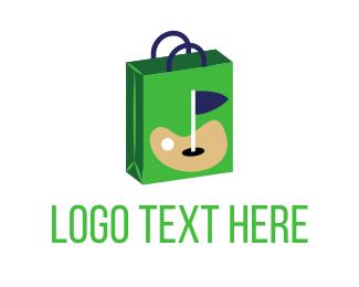 Golf - Golf Shopping Bag logo design