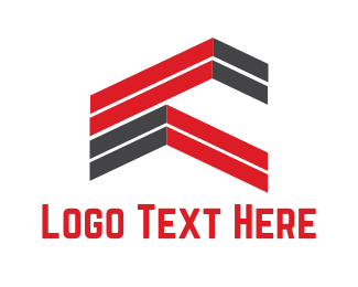 Roofing - Abstract Rooftops logo design