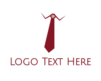 Tailor - Red Tie Executive logo design