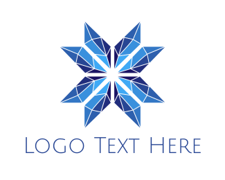 Luxury - Stained Glass Blue Star logo design