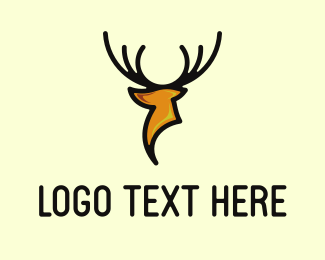 Hunt - Modern Deer logo design