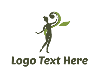 Physical Therapy - Green Girl logo design