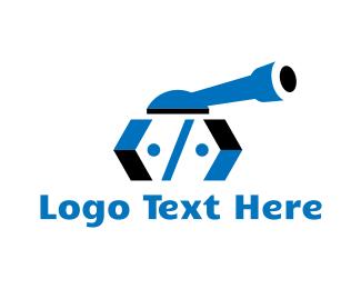 Cyber Security - Tank Code logo design
