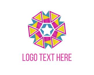 Celebration - Triangle Flower logo design