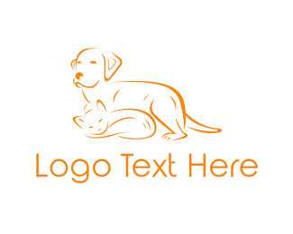 Cat & Dog Logo