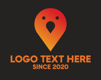Gprs - Bird Pin logo design