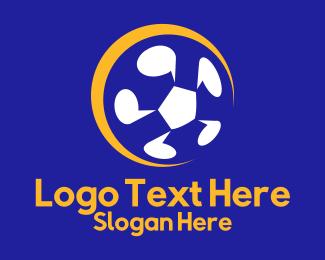 Soccer - Blue & Green Ball logo design