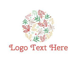 Wreath - Floral Circle logo design