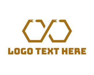 Egyptian - Hexagonal Snake logo design