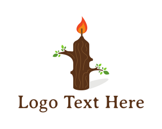 Wax - Nature Candle logo design
