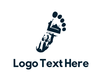 Travel - Traveler Footprint logo design