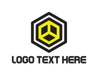 Geometrical - Hexagonal Cube logo design