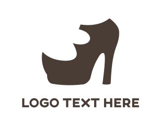 Rhino - Brown High Heels logo design