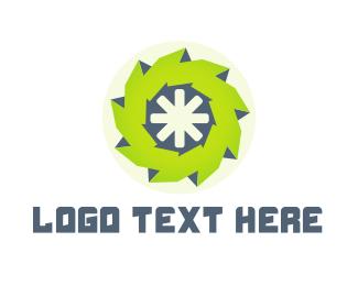Wheel - Green Wheel logo design