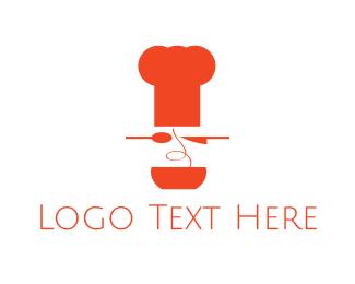Knife - Spaghetti Chef logo design