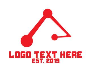 Circuitry - Tech Letter A logo design