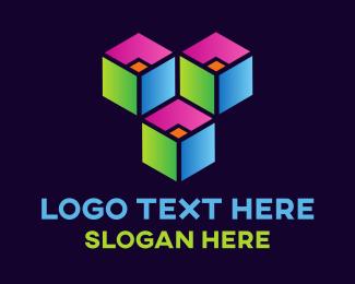 Crowd - Neon Boxes logo design