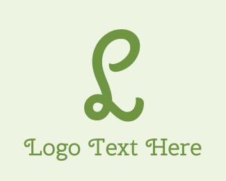 Eco-friendly - Organic Curly Letter L logo design