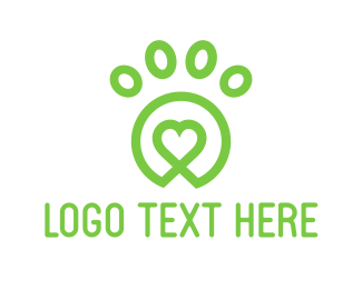 Green - Lovely Green Paw logo design