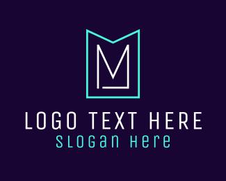 Minimalist - Minimalist M Emblem logo design
