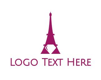 Paris - Eiffel Diamond logo design