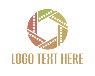 Filmstrip - Film Circle logo design