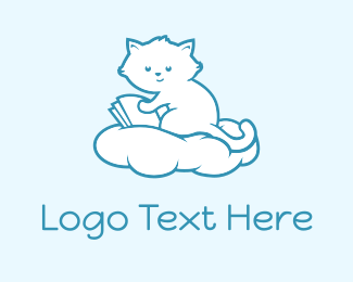 Kitten - Cloud Kitten logo design