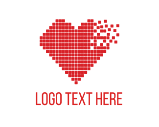 Consulting - Red Pixel Heart logo design