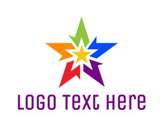 Gay - Abstract Rainbow Star logo design