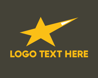 Hollywood - Yellow Star logo design