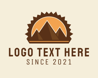 Hiking - Mountain Pyramids logo design