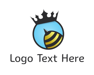 Honey - Queen Bee logo design