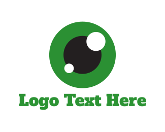 Eye - Green Eye  logo design