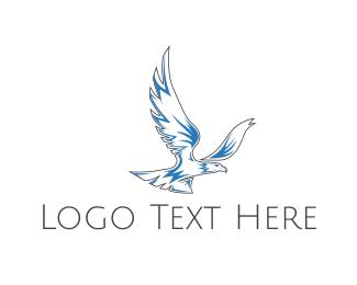 Falcon - Blue Eagle logo design