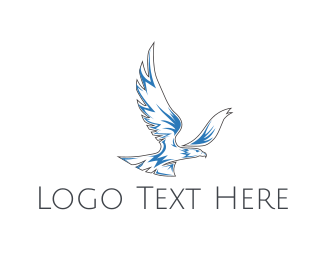 Whiskey - Blue Eagle logo design