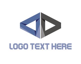 Direction - Metallic Triangles logo design